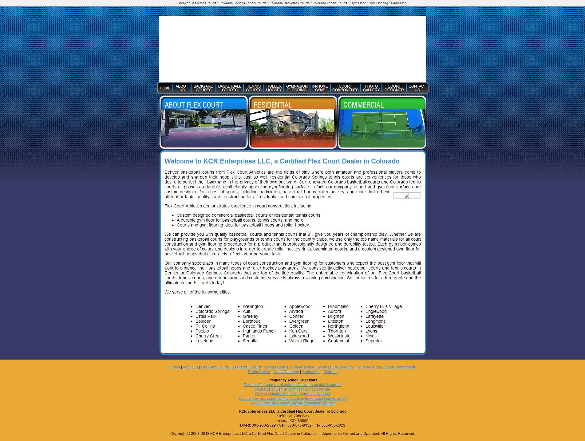 Old KCR Enterprises Website